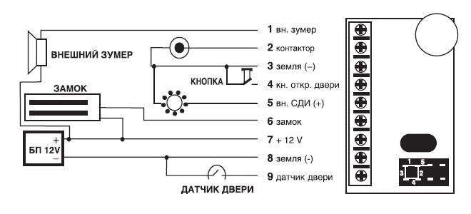 Контроллер Z-5R/5000 СХЕМА